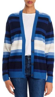 Theory Striped Cashmere Cardigan - 100% Exclusive