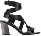 Tom Ford strappy heeled sandals - women - Calf Leather/Leather/Brass - 35