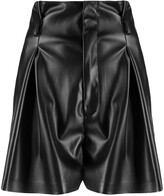 Liu Jo pleated-waist faux leather shorts