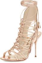Sophia Webster Lacey Lace-Up Gladiator Sandal, Rose