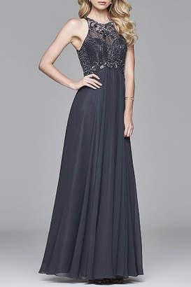 Faviana Long Chiffon Dress
