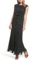 Pisarro Nights Women's Embellished Mesh Godet Gown
