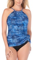 Magicsuit Blue Jean Printed Tummy-Control Swimdress With Underwire Women's Swimsuit