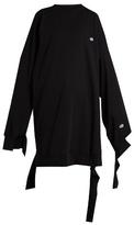 Vetements X Champion cotton-blend oversized dress