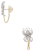 Alexis Bittar Elements Encrusted Spider Chain Statement Earrings