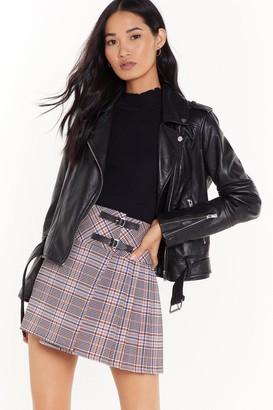 Nasty Gal Womens The Best You Ever Had Tartan Mini Skirt - beige - 12