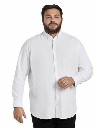 TOM TAILOR Men+ Men's Oxford Basic T-Shirt - White - XXL
