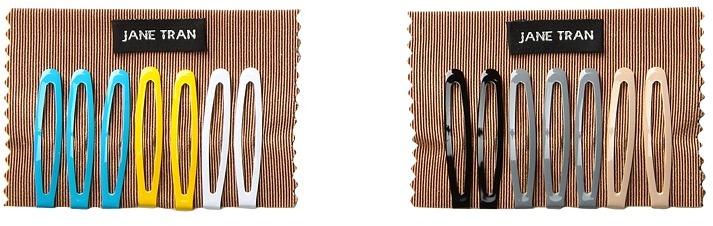 Jane Tran Solid Hairclip Barrette Set (Mix (E&F)) Barrette