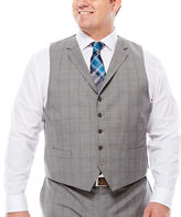 COLLECTION Collection by Michael Strahan Plaid Suit Vest - Big & Tall