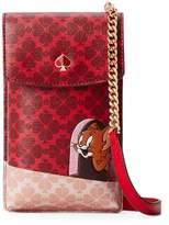 Kate Spade Tom Jerry North South Flap PVC Phone Crossbody Bag