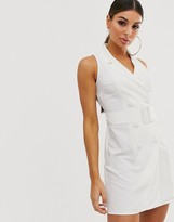 Asos Design DESIGN sleeveless tux mini dress