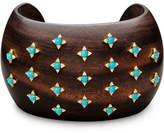 Paul Morelli Sprinkled Turquoise & Diamond Ebony Cuff Bracelet