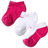 Nike Pack of 3 Pink and White No Show Socks