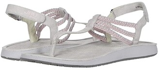 JBU Yasmine Too (Grey/Baby Pink) Women's Sandals