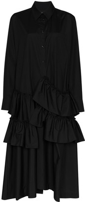 Simone Rocha Tiered Maxi Shirt Dress