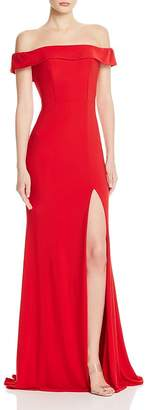 Couture Faviana Off-the-Shoulder Gown