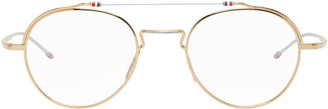Thom Browne Gold and Silver TBX912 Glasses