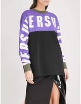 Versace Logo-detail oversized cotton-jersey sweatshirt