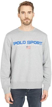 Polo Ralph Lauren Long Sleeve Neon Fleece Pullover (Andover Heather) Men's Clothing