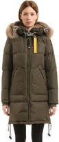 Parajumpers Long Bear Nylon Down Parka W/ Fur