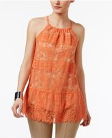 Alfani Lace Peplum Halter Top, Only at Macy's