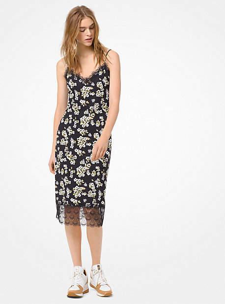 MICHAEL Michael Kors Floral Matte-Jersey Slip Dress