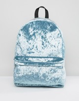 Asos Velvet Backpack