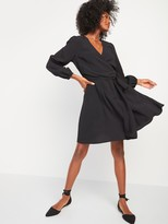 Old Navy Fit & Flare Wrap Dress