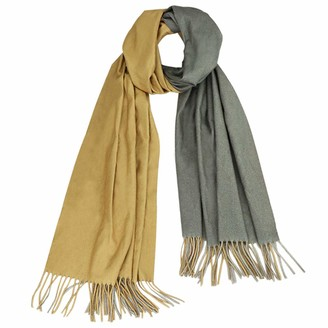 GUIFIER Reversible Scarf Women Two Tone Soft Cashmere Feel Pashmina Shawl Wrap - Large Cashmere Scarf Cashmere Wool Reversible Scarves