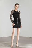 J.ING Black Activewear Zipper Skirt