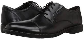 Bostonian Birkett Cap (Black Leather) Men's Shoes