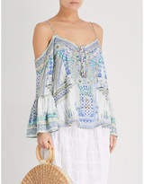 Camilla Salvador Summer silk-crepe top