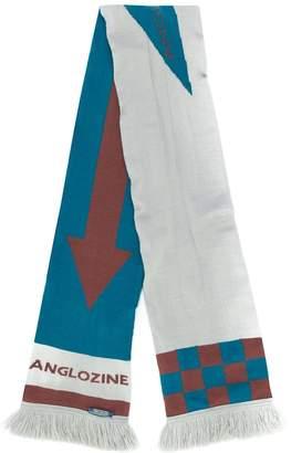 Anglozine checkerboard frayed scarf
