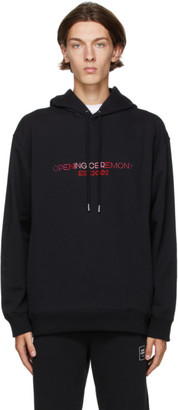 Opening Ceremony Black Embroidered Logo Hoodie