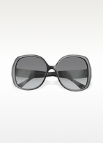 Balenciaga Bevelled Edge Round Sunglasses
