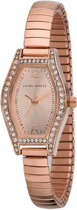 Laura Ashley Women's Watches - Crystal & Rose Goldtone Stretch Bracelet Watch