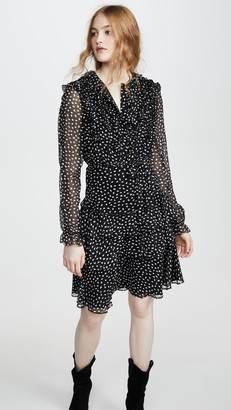 Jason Wu Small Dot Long Sleeve Dress