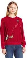 Alfred Dunner Women's Petite Classic Anti Pill Christmas Sweater