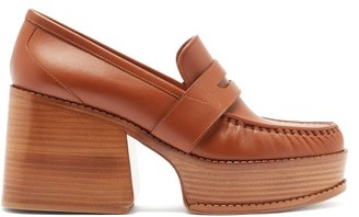 Gabriela Hearst Augusta Leather Penny Loafers - Tan