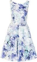Quiz *Quiz Blue Floral High Neck Prom Dress