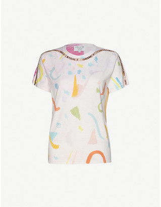 Collina Strada Sporty Spice tie-dye cotton-jersey T-shirt