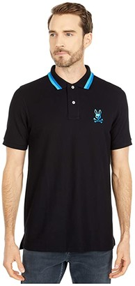 Psycho Bunny Surrey Polo (Black) Men's Clothing