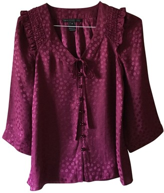 Marc by Marc Jacobs Burgundy Silk Top for Women