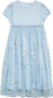 Stella McCartney Star Tulle Fit & Flare Dress