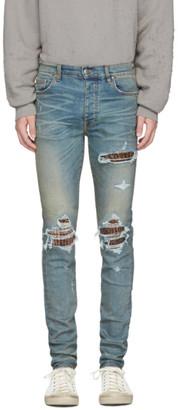Amiri Indigo Animal Print MX1 Jeans