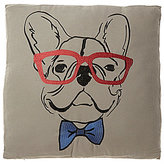 Loom & Mill Bow Tie & Glasses French Bulldog Oversized Square Pillow