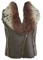 Asymmetrical Faux Fur Vest