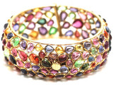 Tresor Collection - Multicolor Stones Bangle In 18K Yellow Gold