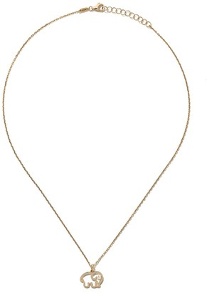 As 29 14kt yellow gold diamond Elephant necklace