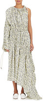 Marni Women's Drawstring-Sleeve Floral Cotton Maxi Dress